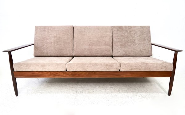 Teak Three Seat Sofa, 1960s