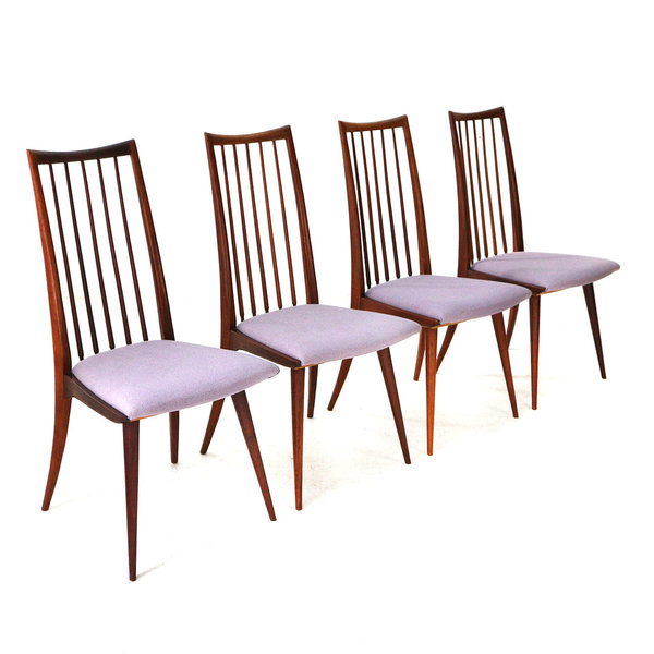 Four Teak Dining Chairs, 1950s